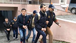 Terör gösterisi gözaltısına 6 tutuklama