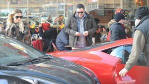 Hacı Sabancının Ferrarisi ilgi odağı oldu