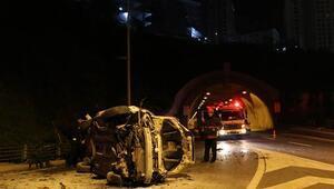 Şişlide otomobil yaklaşık 15 metreden yola düştü: 2 yaralı