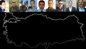 Türkiye ağlıyor: 24 saatte dokuz şehit