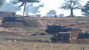 YPG bölgesinden ateş açıldı, obüsler karşılık verdi