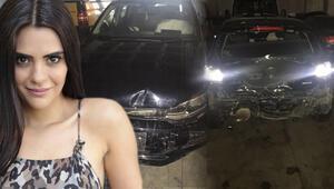 Semra Güzel trafik kazası yaptı