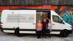 Googleın beyaz minibüsü yollara düşüyor