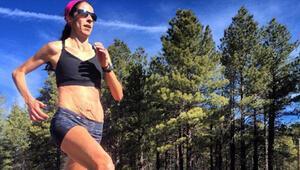 Maraton koşucusunun doğum sonrası fotoğrafları şaşırttı