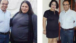 1 yılda 84 kilo verdi
