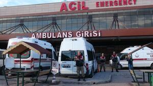 Suriye sınırında görevli bir asker ağır yaralandı