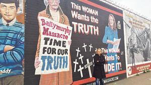 Belfastta duvarla gelen barış...