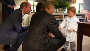 Prens George ABD Başkanı Obama ile tanıştı