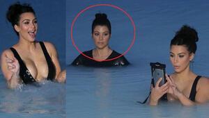 Kim Kardashian doğumdan sonra mayosunu giydi