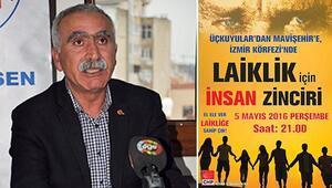 İzmirde laiklik için insan zinciri büyüdü
