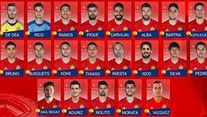 İspanyanın EURO 2016 kadrosunda sürpriz