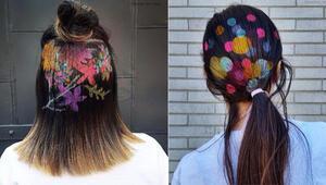 Saçlarda baskı modası