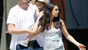 Mila Kunis ve Ashton Kutcherın ikinci bebek sevinci