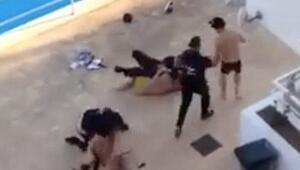 İngiliz turistler lüks otelde güvenlik görevlilerinden dayak yedi