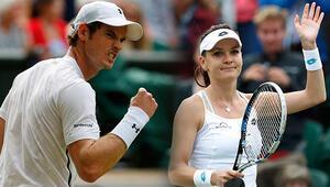 Murray ve Radwanskadan büyük başarı