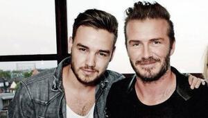 Liam Paynein arkasında David Beckham var