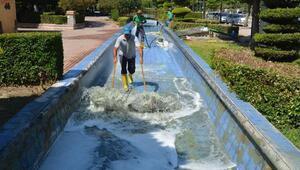 Ceyhanın mahkemelik parklarına Büyükşehir onarımı
