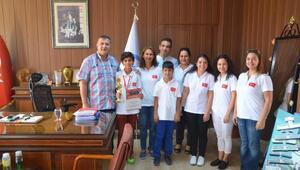 Dünya şampiyonlarından Kocaya ziyaret