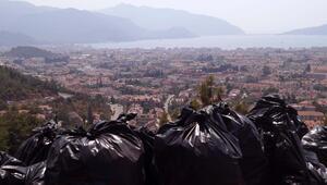 Cennet tepeden 150 torba çöp çıktı