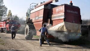 Düzcede tarım aracı yangını