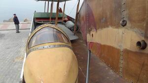 Son Mektup filminde kullanılan uçakların tarihi tabyada sergilenmesi