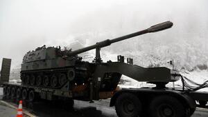 Bolu Dağında tank sevkiyatı