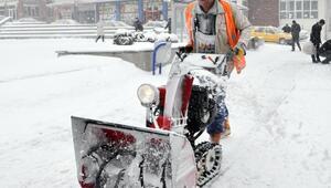 Yozgatta karla mücadele çalışmaları