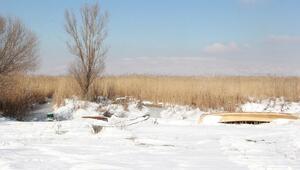Eber Gölü dondu
