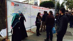 Saadet Partisi Antalya Kadın Gençlik Kolları'ndan 'Gençler Ne İstiyor' Duvar Çalışması