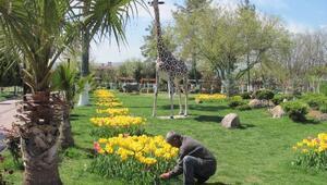 Araban Belediyesi Parkta Yaza Hazırlık Çalışması Başlattı