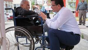 AK Parti Milletvekili Adayı Uslu'dan Hastalara Moral Ziyareti