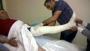 Başkan Böcek'in Bacağı Alçıya Alındı