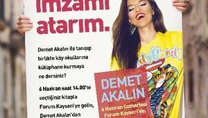 Demet Akalın Forum Kayseri'ye, Kitaplar Köy Okuluna
