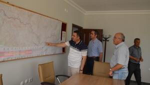DSİ Bölge Müdürü Özgür, Aksu'daki Şantiyeleri İnceledi
