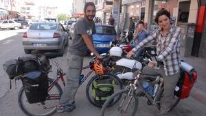 Bisikletli Gezginler İpekyolu'nu Geziyor