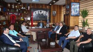 Gökçebey Belediye Başkanı Öztürk İle Bakacakkadı Belediye Başkanı Özdemir, GMİS'i Ziyaret Etti