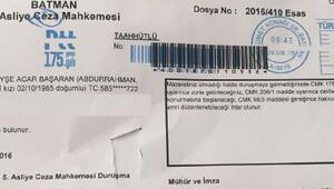 HDPli Başarana duruşmaya gelmemesi halinde Zorla getirilme tebligatı