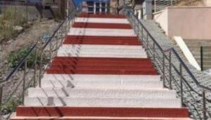 Keçiören'in Merdivenli Yolları Da Renkli