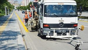 Başkent'te 6 Bin Kilometre Yol Çizgisi