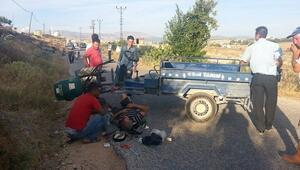 Mut'ta Taktak Motoru Devrildi: 1 Yaralı