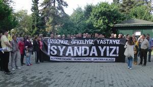 Akçakoca'da Bombalama Olayı Protesto Edildi