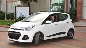 Rektör Bircan Hyundai İ10'u Test Etti