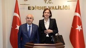 Bulgaristan'ın Ankara Büyükelçisi Neynsky'den Edirne Valisi Şahin'e Ziyaret