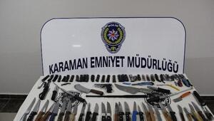 Karaman'da Amaç Dışı Bıçak Taşıyan 125 Kişiye 26 Bin Lira Para Cezası