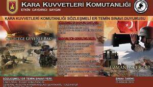 Gaziantep Sözleşmeli Er Sınavı 25 Aralık'ta Yapılacak