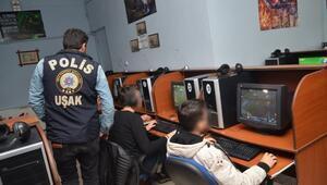 Uşak'ta Polisin Gözü İnternet Cafeler Üzerinde