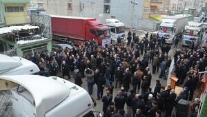 Bafra'dan Türkmenlere 6 Tır Yardım Gönderildi