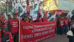 Kırşehirde kıdem tazminatı protestosu