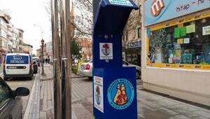 Avanos caddelerine izmarit toplama kutuları yerleştirildi