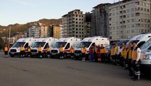 Rizede ambulans dağıtım töreni düzenlendi